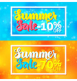 Summer Sale Website Horizontal Banners with White vector image vector image