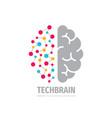 tech brain logo design future technology concept vector image vector image