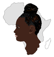 The Africa and its women vector image vector image