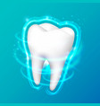 tooth on a black background vector image vector image