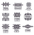 tribal aztec pattern indian graphics vector image