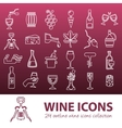 wine outline icons vector image