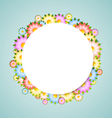 Flower bubble vector image