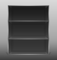 Dark empty isolated bookshelf vector image