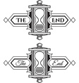 The end graphic element vector image