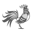 year rooster chinese calendar pictogram vector image