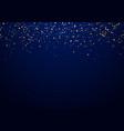 abstract falling golden glitter lights texture vector image