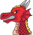 angry dragon head mascot vector image vector image