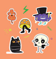 autumn characters stickers vector image vector image