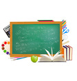 background of back to school vector image