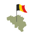 belgium map and flag belgian banner and land vector image vector image