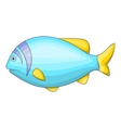 Blue fish icon cartoon style vector image vector image