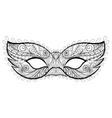 Bohemian festive Mask silhouette for vector image