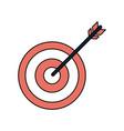 bullseye or dartboard icon image vector image vector image
