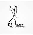 Bunny Rabbit Sketch vector image vector image