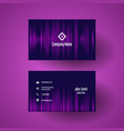 business card template with a pink halftone dots vector image