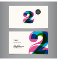 business card with number 2 vector image