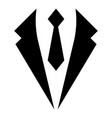 business concept jacket and tie cravat suit vector image vector image
