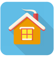 Christmas house icon vector image vector image