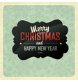 Christmas vintage poster vector image