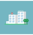 City Hospital Building vector image vector image