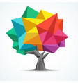 colorful tree geometric polygon design vector image vector image