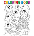 coloring book ghost theme 2 vector image vector image