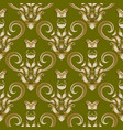 damask baroque style 3d seamless pattern vector image vector image