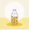 detox juice mason jar vector image vector image