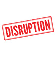 Disruption red rubber stamp on white vector image vector image