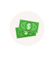 dollar money icon cash payment sign currency vector image