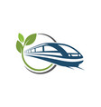 fast train icon design vector image