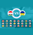 football 2020 sport vs versus templates for the vector image vector image