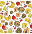 fresh organic fruit background vector image vector image
