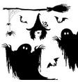 halloween icon setwitchnightmare monsterbroom vector image vector image