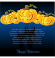 Halloween with Pumpkins for invite cards vector image
