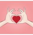 hand drawn heart shaped anime style manga vector image