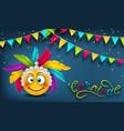 happy carnival festive banner smile emoji vector image vector image