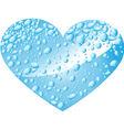Heart from water drops vector image vector image