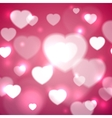 Hearts for Valentines Day Background vector image vector image