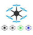 hexacopter flat icon vector image vector image