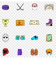 Hockey set icons vector image vector image