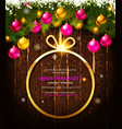 invitation to a christmas party vector image