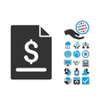 Invoice Page Flat Icon With Bonus vector image