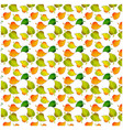 leaves of a birch pattern vector image vector image