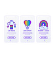 lgbt thin line icons support lgbt rights vector image vector image