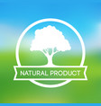 logo of farm natural products vector image vector image