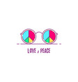 love and peace vector image vector image