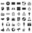 mass communication icons set simple style vector image vector image