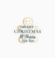 merry christmas abstract retro label logo vector image